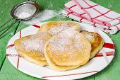picture of sugar  - Fritter with powdered sugar  - JPG