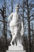 picture of schoenbrunn  - Statue from gardens of Schonbrunn palace in spring - JPG