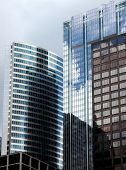 stock photo of high-rise  - Downtown chicago high rise buildings and skyline - JPG