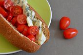pic of plum tomato  - Wholemeal Sub Roll with Blue Cheese and Ripe Cherry Tomatoes - JPG