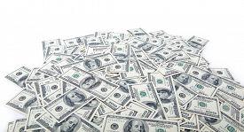 foto of 100 dollars dollar bill american paper money cash stack  - Background with money american hundred dollar bills - JPG