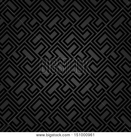 Seamless geometric pattern by stripes. Modern background with repeating lines. Seamless geometric background. Dark pattern