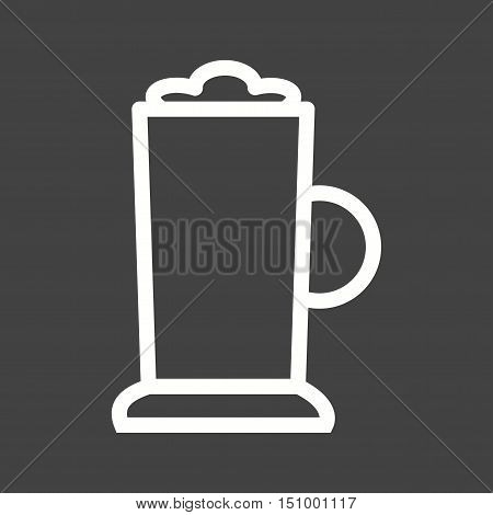 Frappe, latte, coffee icon vector image. Can also be used for coffee shop. Suitable for web apps, mobile apps and print media.