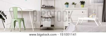 Pastel Decors In White Room