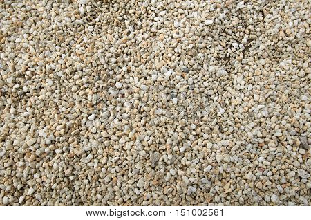 surface and texture of fine mix size gravel