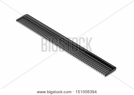 Black Comb On White