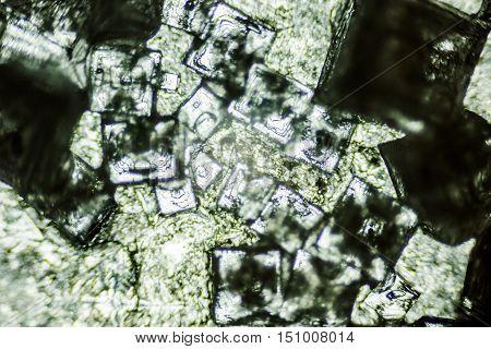 wonderful salt crystals enlarged under the microscope