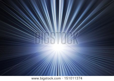 Explosion of blue light in the universe.