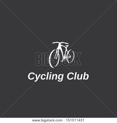 Logo on the bicycle theme, vector, fully editable.