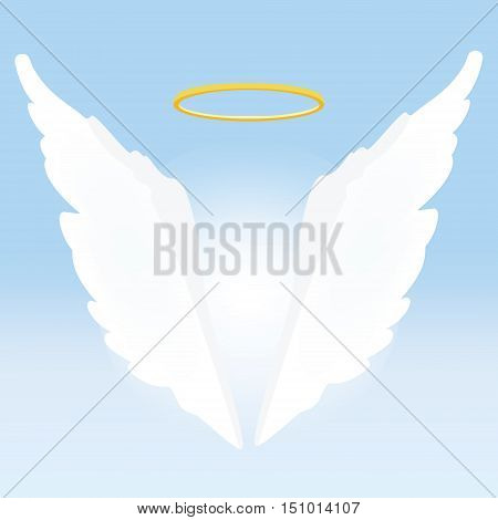 Angel Wings And Nimbus