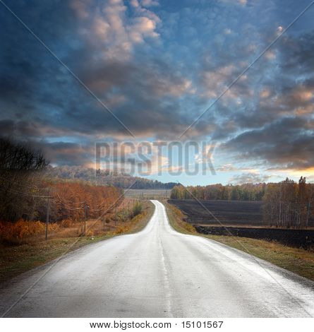 beautiful landscape with road