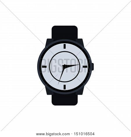 Watch vector isolated on white background. Wristwatch
