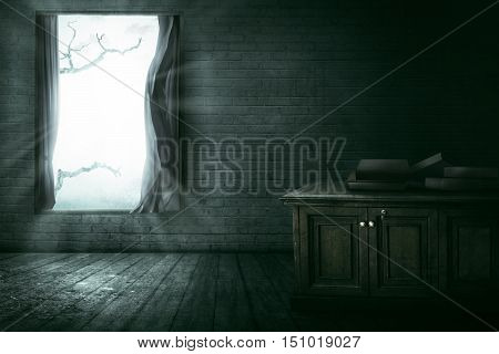 Open Window With Branch