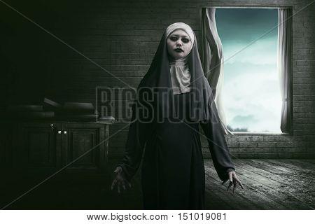 Horrible Asian Woman Nun Scare
