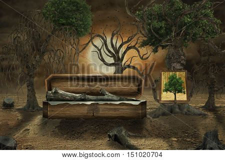 Manipulation as ecology as tree burying his friends other trees