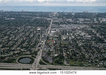 Aerial view of Fort Lauderdale, Florida, USA