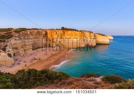 Beach near Albufeira - Algarve region in Portugal