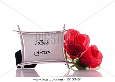 Bride And Groom Wedding Table Number Stock photo