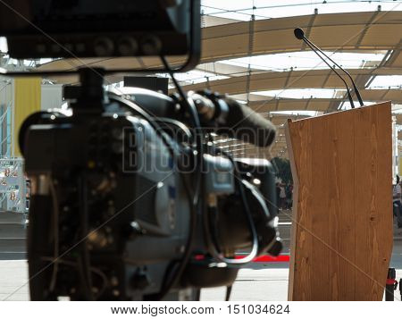 Professional Digital Video Camera ready for Conference Broadcasting