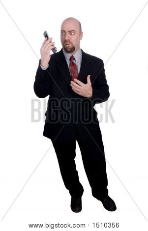 Businessman Holding Handy