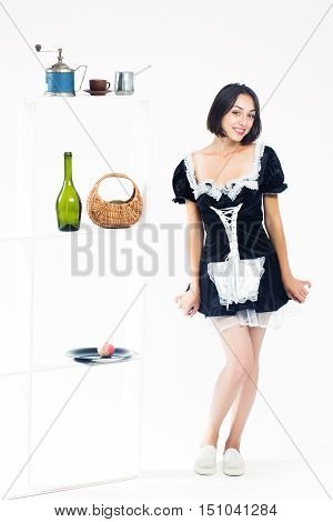Young Smiling Woman Maid