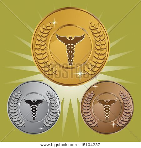 Caduceus Shield Set