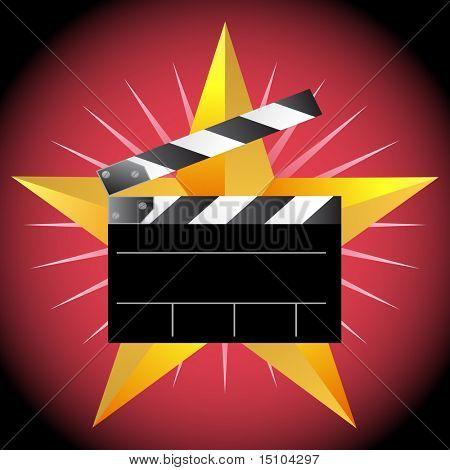Movie Clapboard Star
