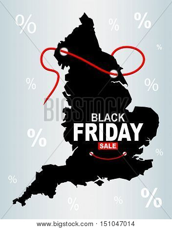 England black friday map vector illustration high res