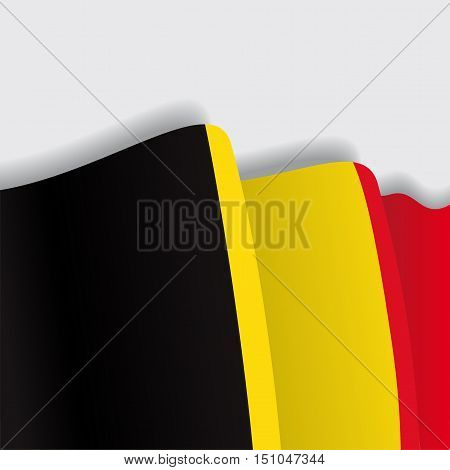 Belgian waving Flag. Vector illustration Eps 8