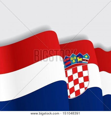 Croatian waving Flag. Vector illustration Eps 8