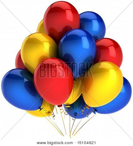 Multicolor party balloons decoration