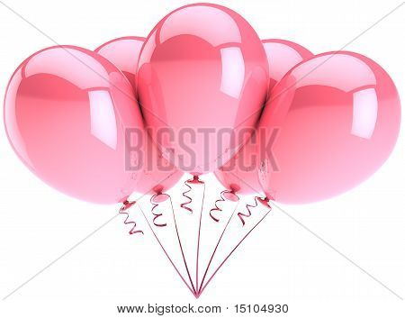 Pink balloons party decoration