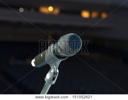 Microphone Close-up On Stage