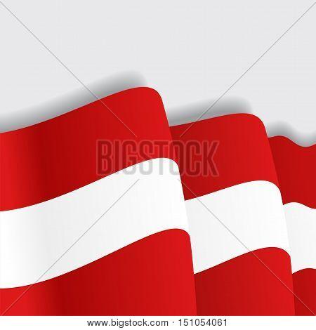 Austrian waving Flag. Vector illustration Eps 8