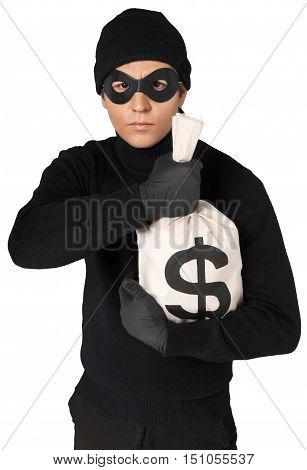 Portrait of a Thief Holding a Money Bag