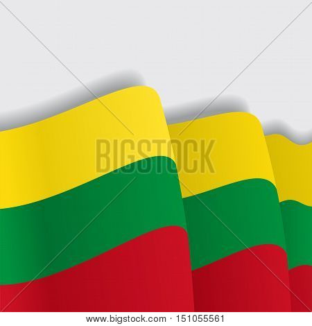 Lithuanian waving Flag. Vector illustration Eps 8