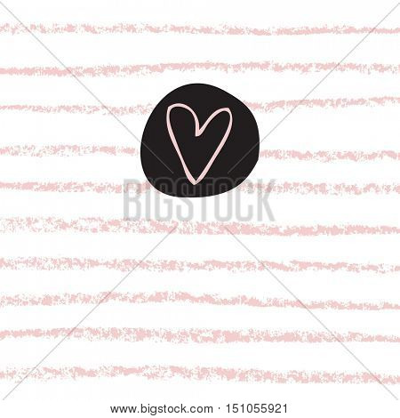 Greeting card with copy space. For birthday invitation, greeting card, baby shower, mother day, valentine. Cute design element.