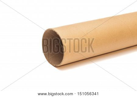 Carton tube Isolated on a white background