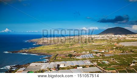 countryside agricultural landscape of the northern coastline of Tenerife Canary islands Spain