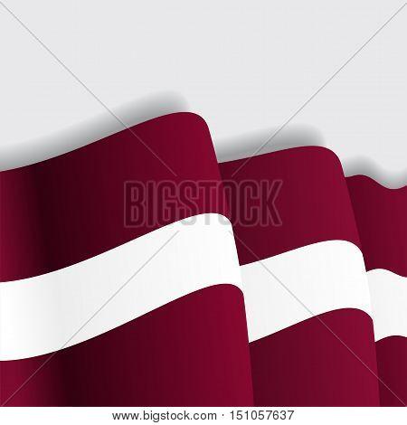 Latvian waving Flag. Vector illustration Eps 8