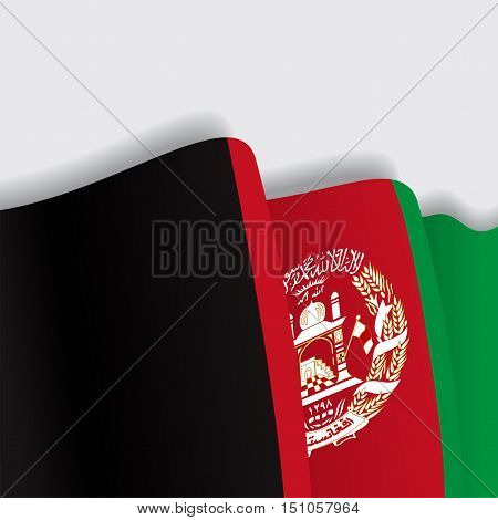 Afghanistan waving Flag. Vector illustration Eps 8