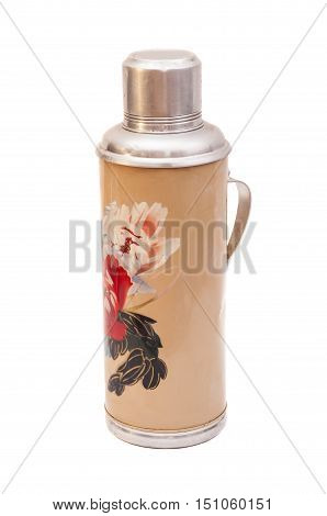 Thermo flask isolated on the white background
