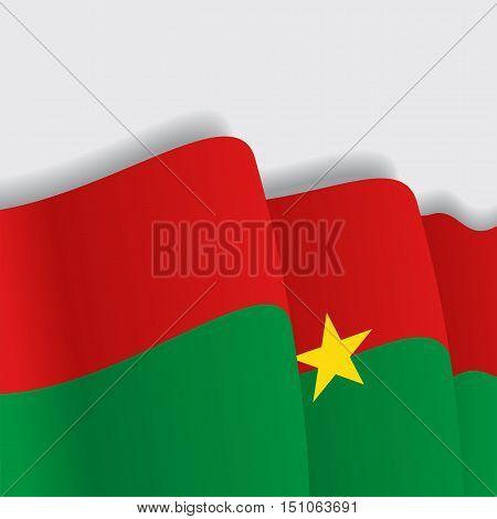 Burkina Faso waving Flag. Vector illustration Eps 8.