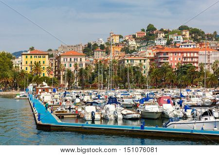 View of the city and the harbor of La Spezia and Gulf of Poets, Italian Riviera, Liguria, Italy.