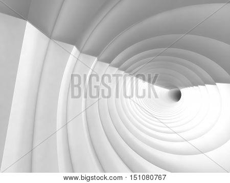 White Vortex Tunnel Interior, 3 D