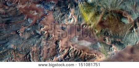 mirage in Sahara, abstract surreal photograph from the air,white creamy texture and light tan,white background with turquoise accents