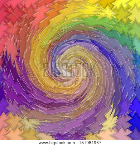 Abstract coloring background of the pastels gradient with visual mosaic and plastic wrap effects