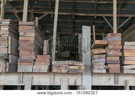 Slat And Timber Wood For Construction