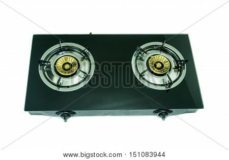 portable gas stove on a white background
