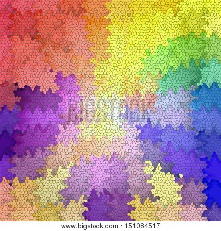 Abstract coloring background of the pastels gradient with visual mosaic,pinch,wave and stained glass effects